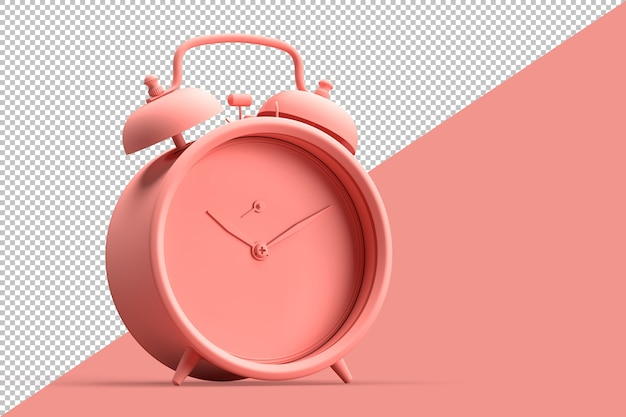 Minimalistic illustration of vintage alarm clock