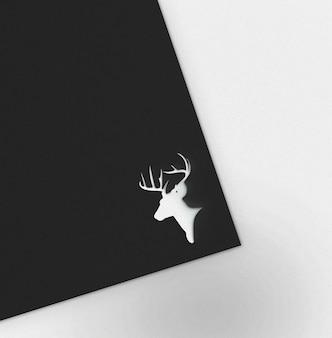 Minimalistic logo template mockup on black paper sheet