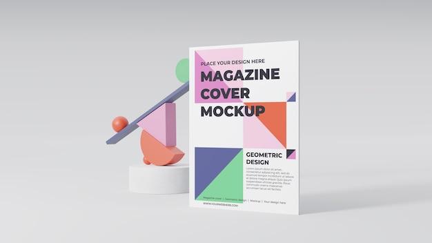 Minimalistic magazine mock-up arrangement