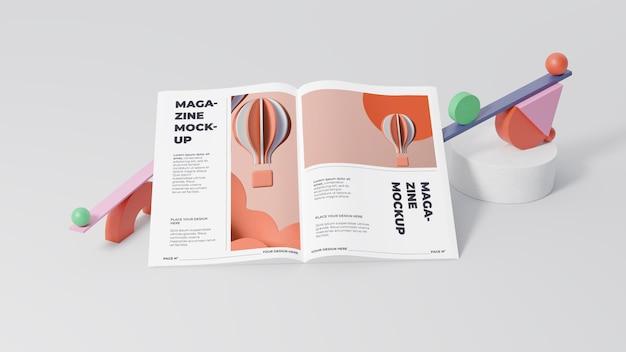 Disposizione di mock-up di una rivista minimalista