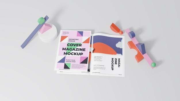 Minimalistic magazine mock-up assortment