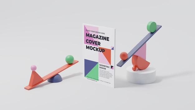 ミニマルな雑誌のモックアップ構成