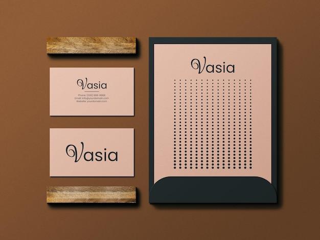 Mininal business card and letterhead mockup