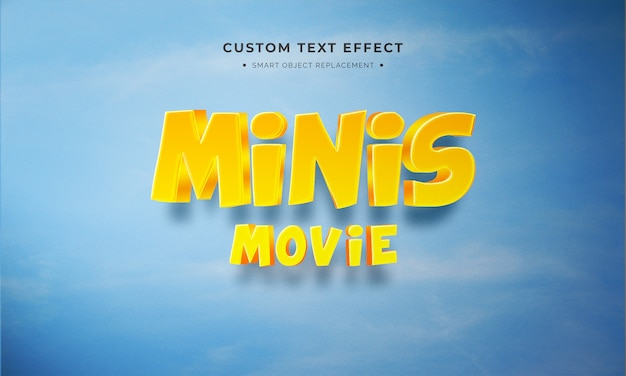 Minis 3d text style