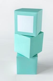 민트 그린 포장 상자 모형