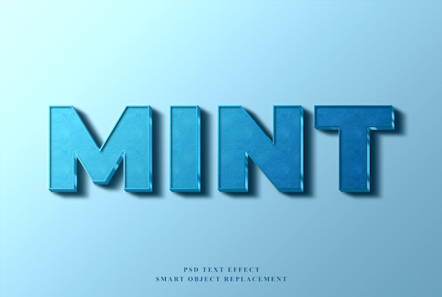 Mint text effect