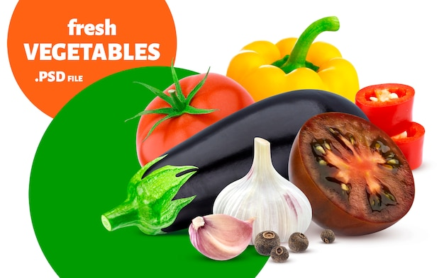 Mix of vegetables banner
