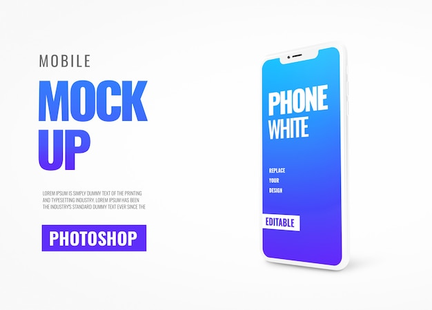 Mobile cover banner mockup