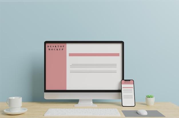 Mobile and desktop mockup