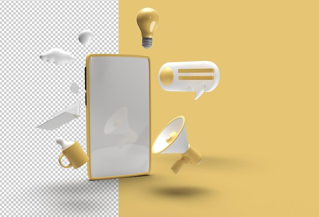 Прозрачный psd-файл для мобильного макета.