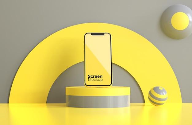 Мобильный макет с цветом года