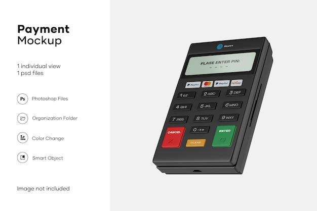 Mobile payment terminal mockup