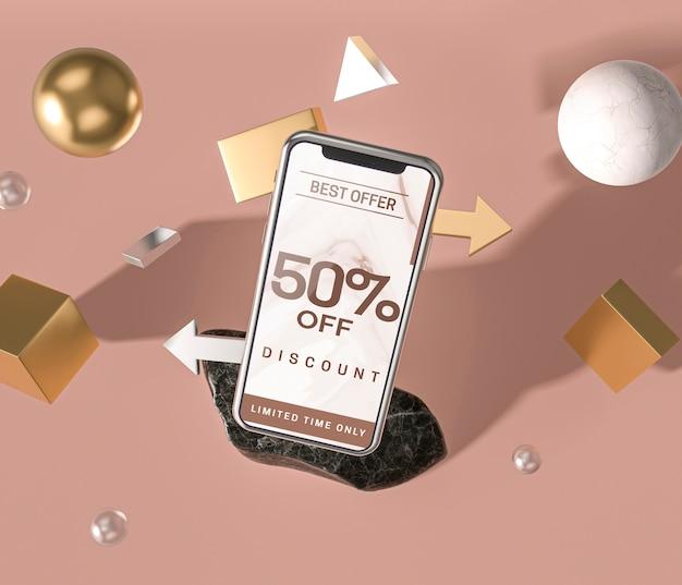 휴대 전화 3d 모형