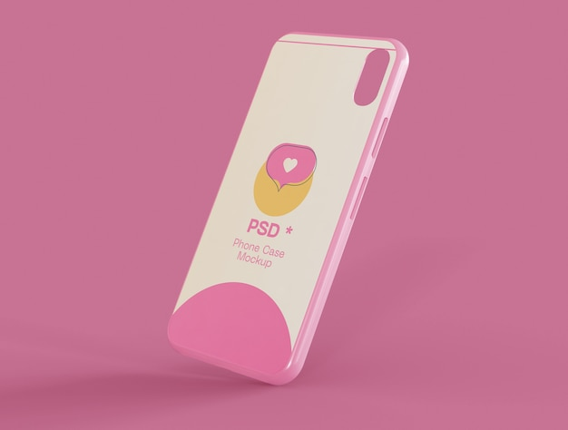 Mobile phone case mockup