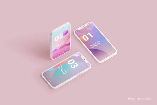Глиняный макет мобильного телефона