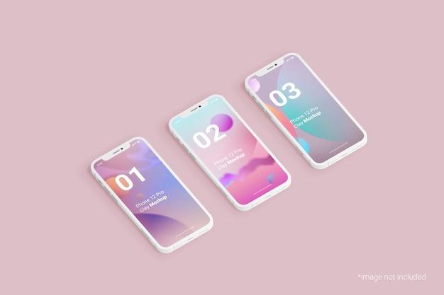 Mobile phone design clay mockup