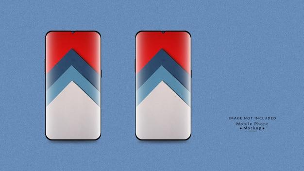 Mobile phone display mockup design