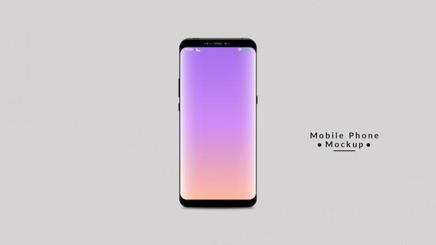 Mobile phone display mockup