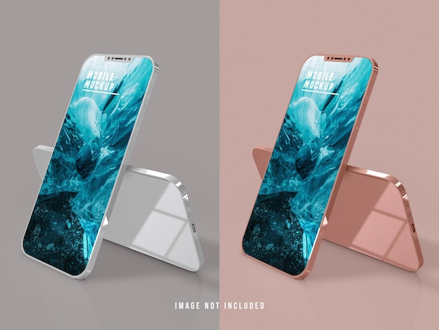 携帯電話のモックアップデザインpsd