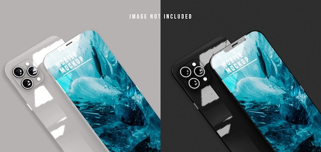 Mobile phone mockup design psd