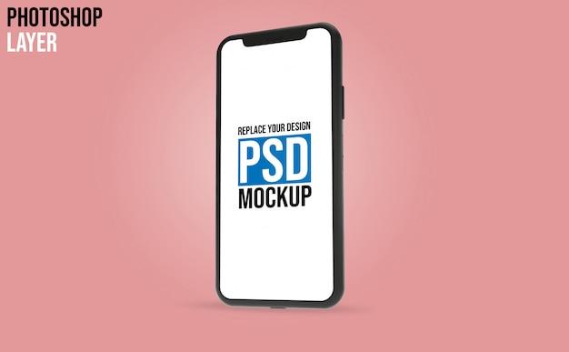 携帯電話のモックアップ設計 Premium Psd