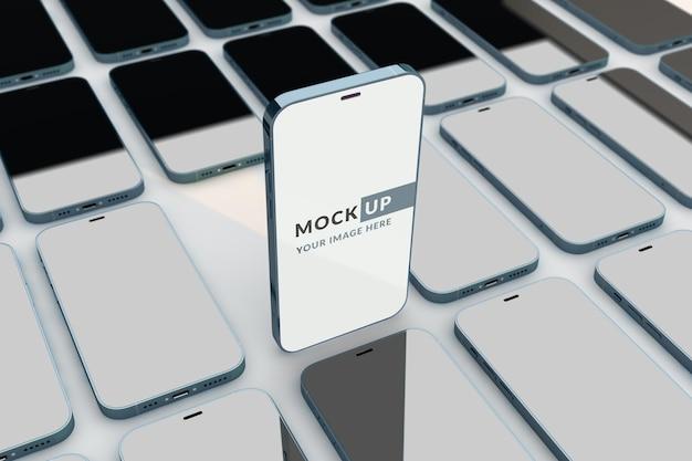携帯電話のモックアップ画面のデザイン