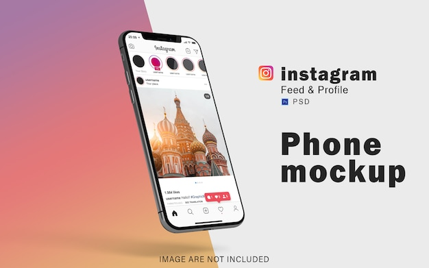 Mobile phone mockup for social media