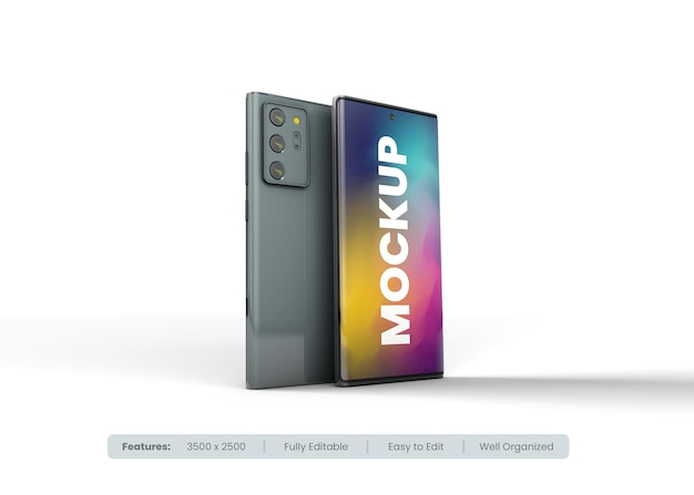 Макет мобильного телефона с редактируемым дизайном и изменяемыми цветами