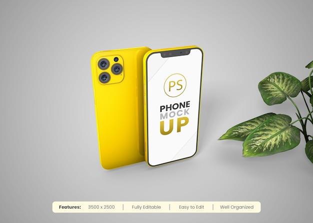 Макет мобильного телефона с редактируемым дизайном