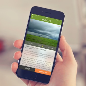 Mobile phone screen mock up design