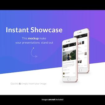 Mobile phone screen mock up design