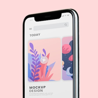 Mobile phone screen mockup design