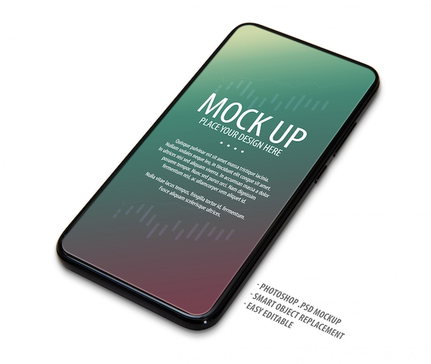 Mobile phone screen mockup template