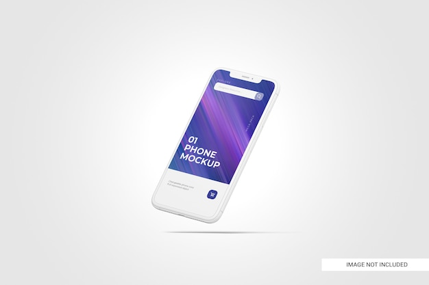 Mobile phone screen mockup