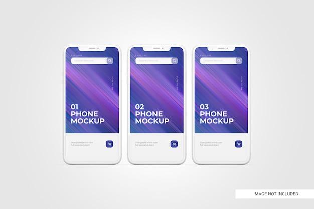 Mobile phone screen mockup