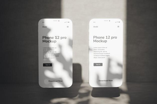 Mobile phone  stylish mockup