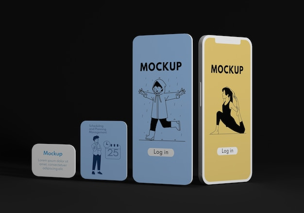 휴대 전화 사용자 인터페이스 모형