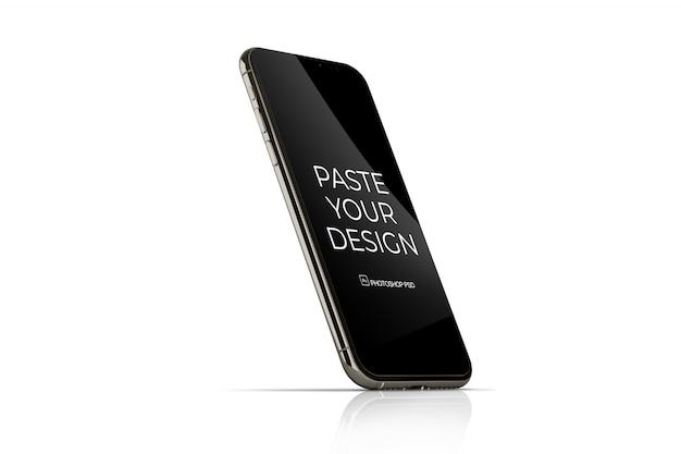 Мобильный телефон с макетом сенсорного экрана Premium Psd