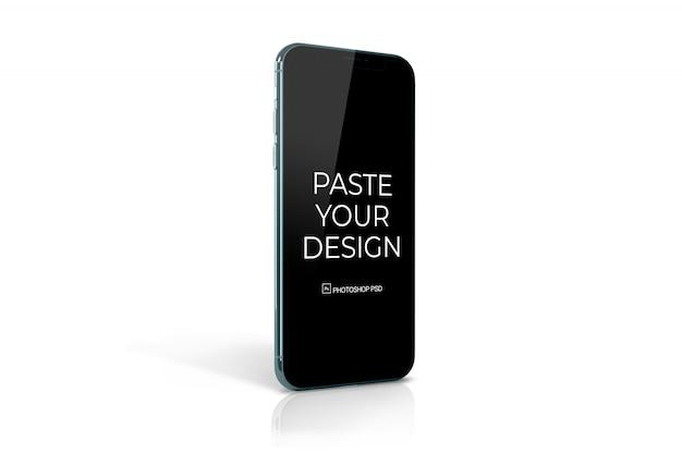 Мобильный телефон с макетом сенсорного экрана
