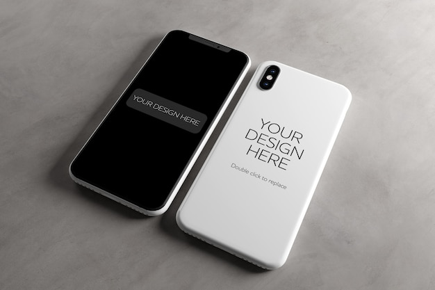 Mobile screen and case mock up