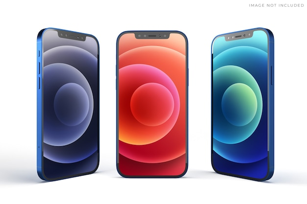 Mobile smartphone mockup for branding identity global business