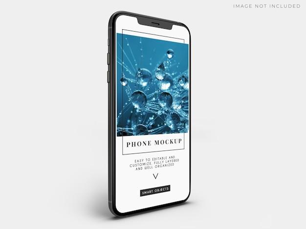 Мокап мобильного смартфона для брендинга глобального бизнеса
