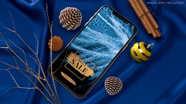 Мокап мобильного смартфона для фирменного стиля