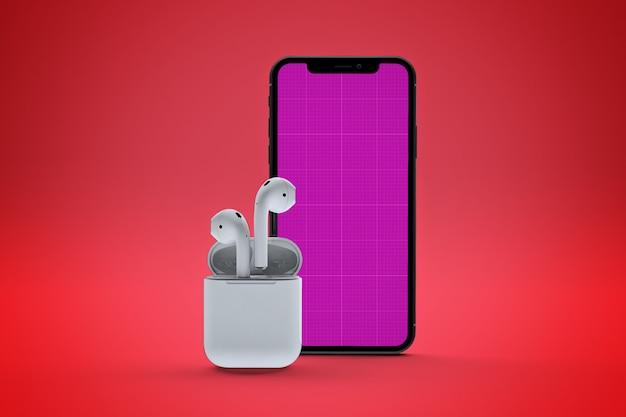 핸드폰 음악 앱 모형