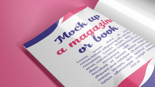 Mock up a4 size magazine or book in different positions in addition to shade