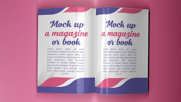 日よけに加えて、a4サイズの雑誌や本をさまざまな位置にモックアップします