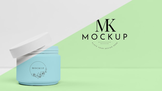 Mock-up beauty cream can