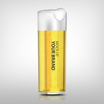Mock up beverage beer mug