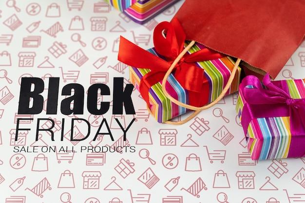 Mock-up black friday shopping day