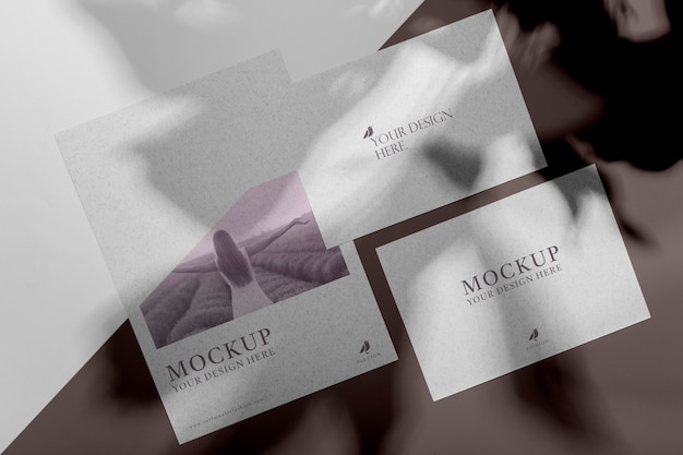 Mock up brochure shadow overlay